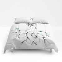 Poppy Poem Comforters by LouJah