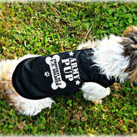 Army Pup Military Dog Tank Top. Gift for Soldier. Small Dog Shirts. Pet Apparel for U.S. Soldier