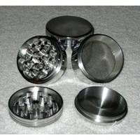 """Four Piece NEW STYLE 2 1/4"""" Herb, Spice or Tobacco Pollen Grinder"""
