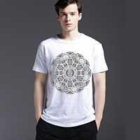 Summer Fashion Casual Round-neck Slim Cotton Men's Fashion Short Sleeve T-shirts [6541813379]