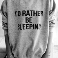 rather sleep grey CrewNeck
