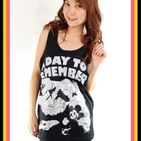 New ADTR A Day To Remember Mickey Rock Women Tank Top Vest T Tunic S, M, L