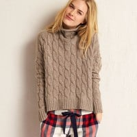 AERIE BEACHSIDE CABLE TURTLENECK