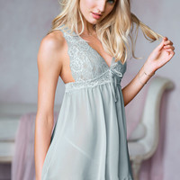 Lace & Chiffon Halter Babydoll - Dream Angels - Victoria's Secret