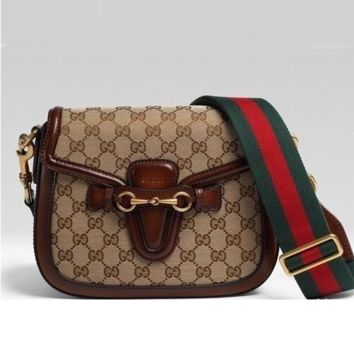 Gucci Women Leather Shoulder Bag Crossbody Satchel G-AGG-CZDL