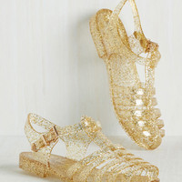 Saved by the Jelly Sandal in Gold Glitter
