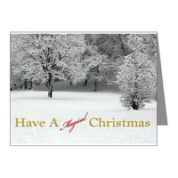 Have a magical Christmas Snow and Trees Note Cards on CafePress.com