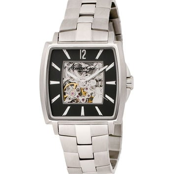 Kenneth Cole KC3771 Men's New York Black Skeleton Dial Stainless Steel Automatic Watch