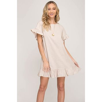 Summer Soiree Dress Taupe