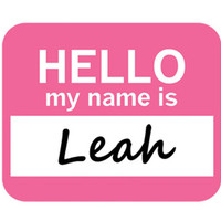 Leah Hello My Name Is Mouse Pad
