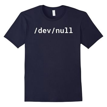 /dev/null - Funny T-Shirt for Linux/Unix Geeks - White Text