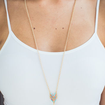 Everyday Wear Necklace in Turquoise