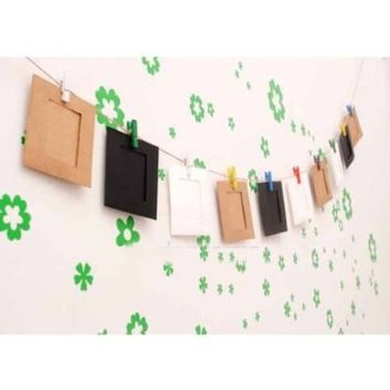 """10pcs 3"""" Suspension Hanging Paper Photo Film DIY String Clip Wall Picture Frame"""