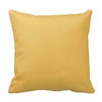 Mimosa Yellow Plain Decorative Throw Couch Pillows