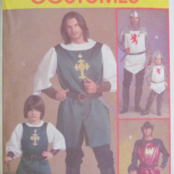 SALE Uncut McCall's Sewing Pattern, 5500! Size Sml-Med-Lrg-XLG, Renaissance Costumes, Knights/Prince/Samurai Halloween Costumes