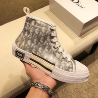 Dior Men Fashion Boots  fashionable casual leather  Breathable Sneakers Running Shoes Sneakers