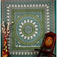 Buy Wholesale Green Hippie Mandala Tapestry Wall Hanging