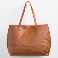 Reversible Tote Cognac One Size For Women 24920540901