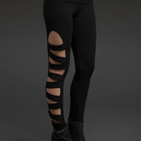 Slashed Side Leggings