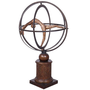 AFD Home Kinetic Globe Sculpture