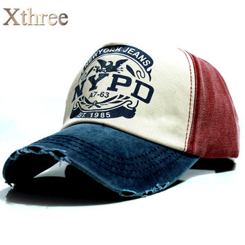 xThree brand  baseball cap fitted hat Casual  5 panel  snapback hats
