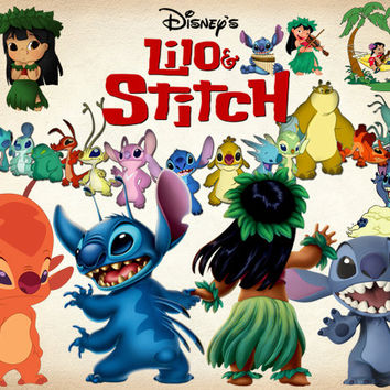 33 Lilo and Stitch Clipart PNG Disney Lilo & Stitch Digital Graphic Image Clip Art Scrapbook Invitations INSTANT DOWNLOAD printable 300 dpi