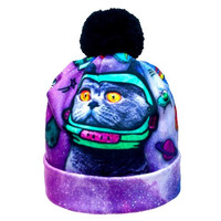 Galaxy Cat Beanie