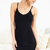 Out From Under Ribbed V-Neck Midi Slip