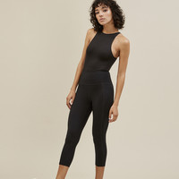 Black Girlfriend High-Rise Capri Legging