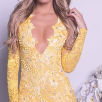 ELINOR LACE DRESS IN YELLOW  - MORE COLORS