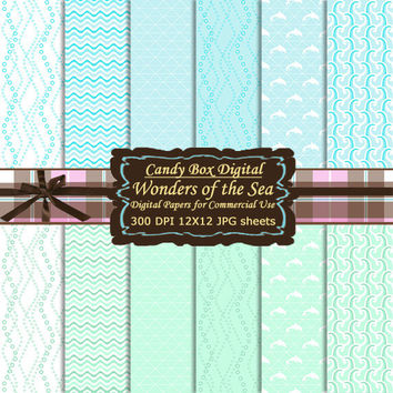 Nautical Digital, Ocean Digital Paper, Water Digital Paper, waves paper, ocean paper, water paper - Commercial OK