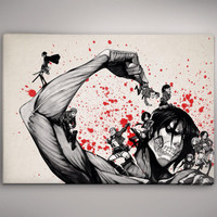 Attack on Titan Watercolor Print Poster 11.70 x 16.50 A3 No2c