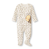 Baby Layette Long Sleeve Bee Footed Sleep And Play