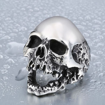 Crazy Skull Ring Stainless Steel