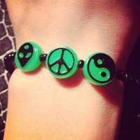 90s Bracelet- Green from pb&j designs