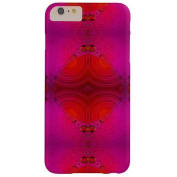 Red Pink Abstract Artwork Barely There iPhone 6 Plus Case