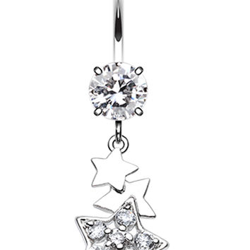 Star Dazzle Belly Button Ring