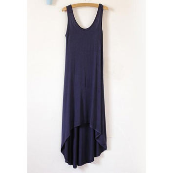 Navy Sleeveless Mini Dress