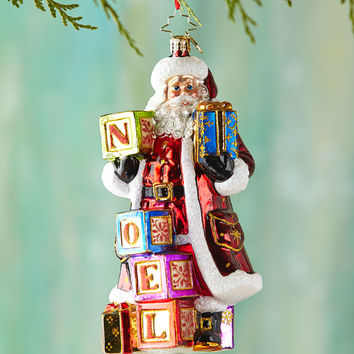 Simply Noel Christmas Ornament - Christopher Radko
