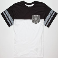 Vans Knit Zio Mens T-Shirt White/Black  In Sizes