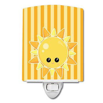 Weather Sunshine Face Ceramic Night Light BB7155CNL