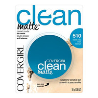 CoverGirl Clean Oil Control Pressed Powder, Classic Ivory (W) 510, 0.35-Ounce Pan