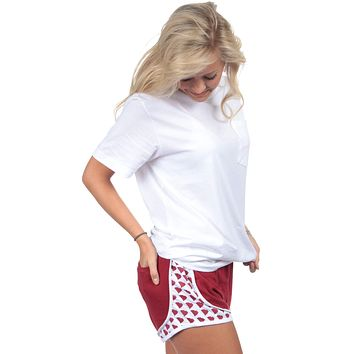 South Carolina Jersey Shorties in Crimson by Lauren James - FINAL SALE