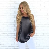You're my Stripe High Neck Cami