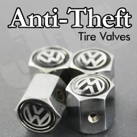 VW Volkswagen Anti-theft CAR Wheel Tire Valve Stem Caps