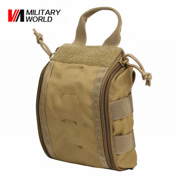 Tactical Molle Emergency Medical First Aid Pouch Vest EDC Tool Bag Magazine Pouch Hunting Survival Utility Cycling Belt Bag !