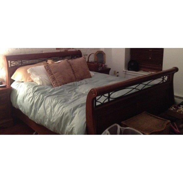 Full size Full size. Alexander Julian Queen Size Sleigh Bed from Krrb Local   Room
