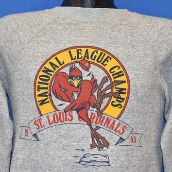 80s St. Louis Cardinals NL Champs 1985 Sweatshirt Small