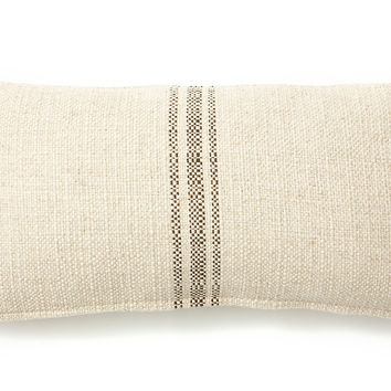French Laundry Home, Classic Striped 10x20 Pillow, Godiva, Decorative Pillows
