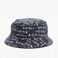Dark Seas Cross Jack Bucket Hat- Navy One